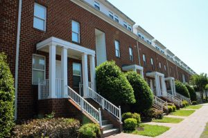 The Carriage House apartment complex in Carver is up for sale for more than $8 million. Photos by Katie Demeria.