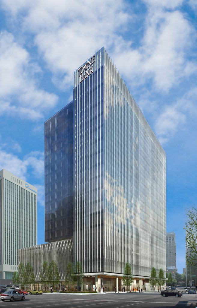 The TowneBank name will join downtown's large bank lineup. Image courtesy of TowneBank.