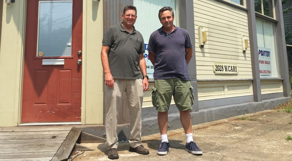 David Levine (left) and A.J. Shriar are working on a Cary Street redevelopment project. Photos by Katie Demeria.