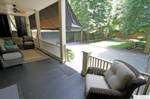 The home includes two Charleston porches. Interior photos courtesy of CVRMLS.