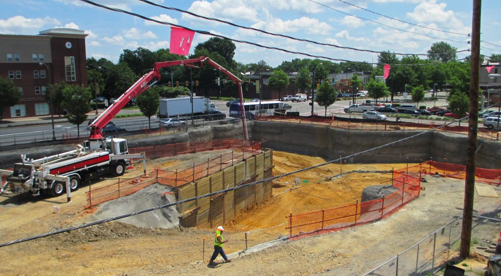 Construction on a massive VCU project was recently stalled. Photo by Jonathan Spiers.