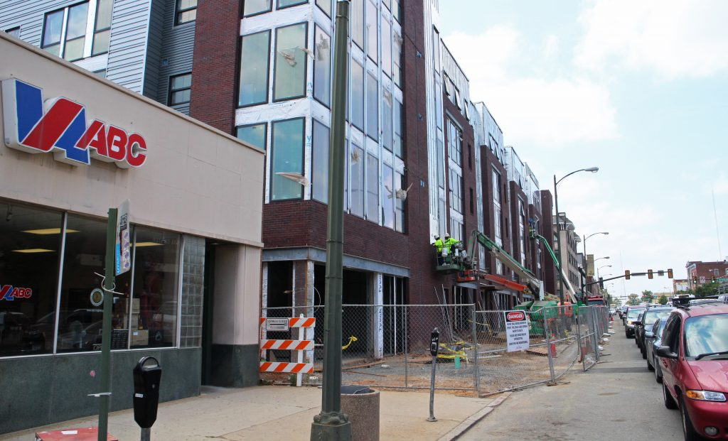 A sandwich shop will move into a ground-floor space in an upcoming VCU dorm building. Photo by Michael Thompson.