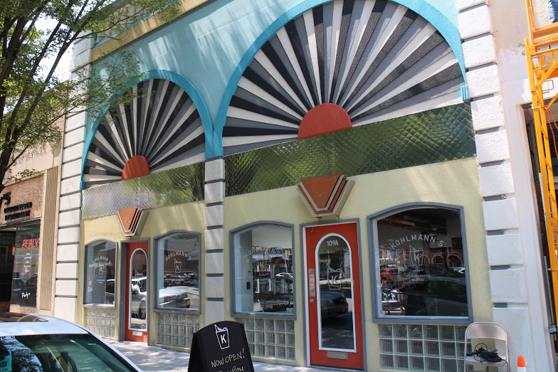 Kohlmann's took over two colorful storefronts on E. Grace Street. Photos by Michael Thompson.