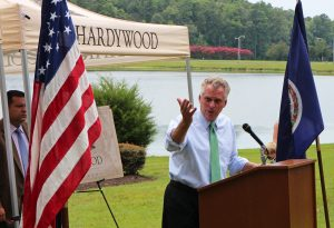 Gov. Terry McAuliffe announces the new deal on Monday.