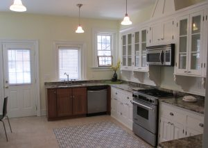 The kitchens were remodeled during the condo conversion process.