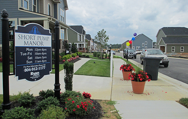 A batch of new homes in Short Pump is set to be finished by this fall. Photos by Jonathan Spiers.