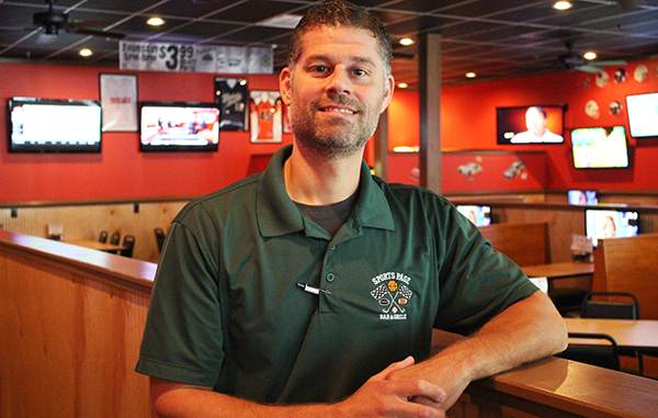 Rob Jones is launching another Sports Page location. Photos by Michael Thompson.