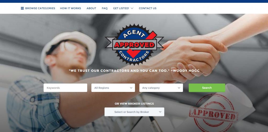agent approved contractors