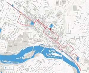 The most downtown biking will occur Sept. 24-27 on the Road Circuit course, one of four routes.