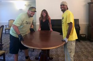 Commonwealth Assisted Living donates furniture to Habitat for Humanity.