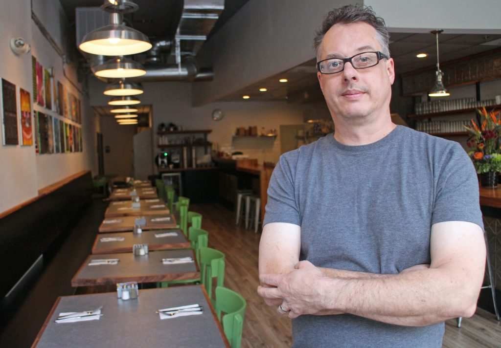 Greg Johnson recently moved his restaurant into a bigger space. Photos by Michael Thompson.