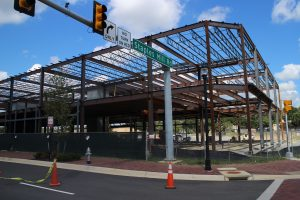Work is underway on a 30,000-square-foot office building across from the restaurant space.