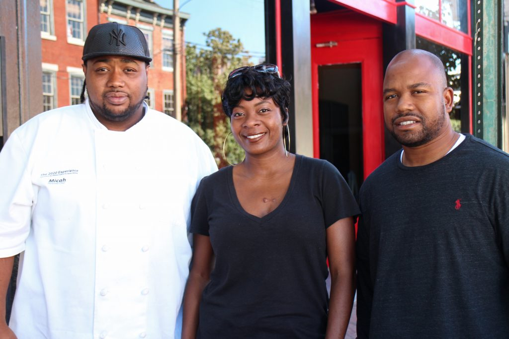 From left: Crump, Epps and Minter are behind a new restaurant and event venue coming to Shockoe Bottom. Photos by Michael Thompson.