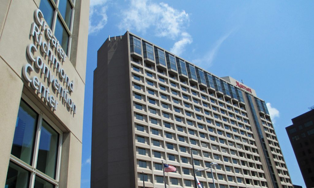 The Richmond Marriott - in the heart of the race events -