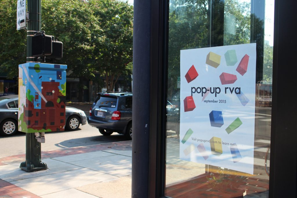 Retailers are popping up in mini stores along Broad Street. Photos by Michael Thompson.