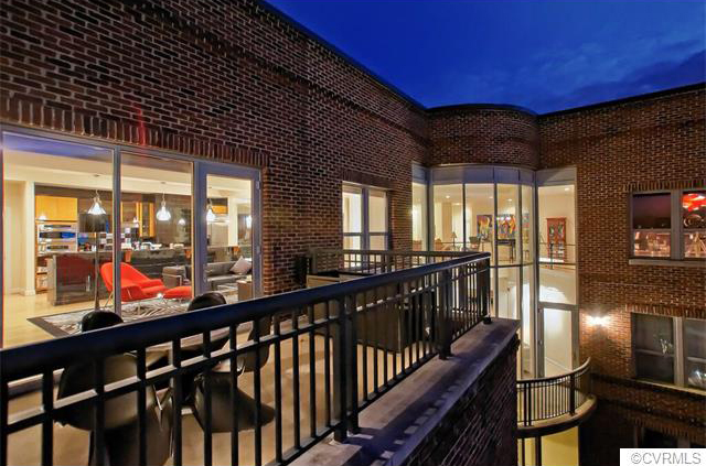 A penthouse condo with a river view far surpassed other home sales last month. Photos courtesy of CVRMLS.