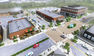 GreenGate will add a new group of retail and office buildings. Image courtesy of Markel|Eagle.