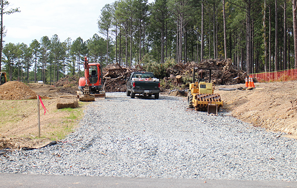New road construction is underway at the West Creek development. Photos by Katie Demeria.