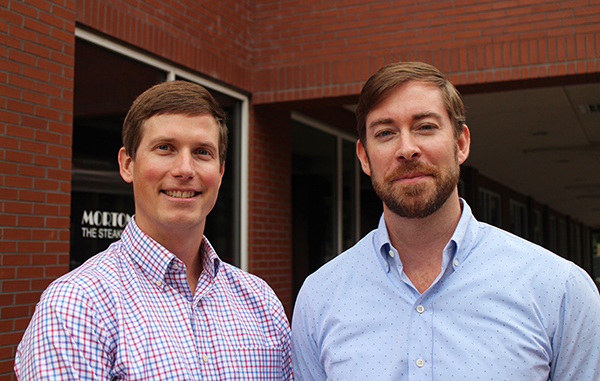Miller (left) and Forrester merged their two firms earlier this year to firm Workshop Digital. Photo by Michael Schwartz.