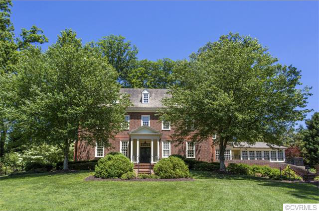 The home at 101 Kennondale Lane in the West End had the highest sale price last month. Photos courtesy of CVRMLS.
