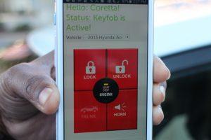CARs members access their vehicle through a smartphone app.