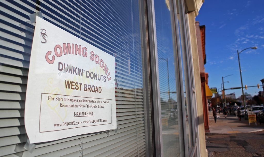 Dunkin' Donuts will move in at West Broad and Goshen streets. Photo by Michael Thompson.