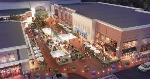 The shopping center could see new construction if new tenants call for additional space.