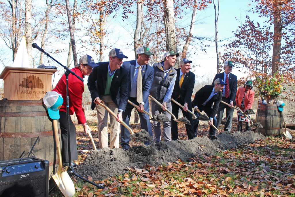 State and county officials break ground with Hardywood's co-founders in November 2015 in Goochland. (BizSense file photo)