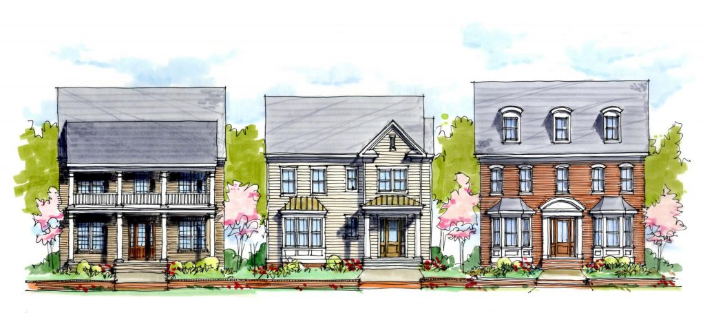 Construction has started on 25 single-family homes in the Winterfield Park development. Image courtesy of Main Street Homes.