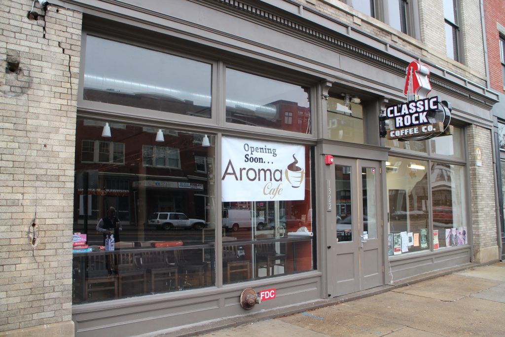 Aroma Cafe is planning to take over the former Classic Rock Coffee space on West Broad Street. Photos by Michael Thompson.