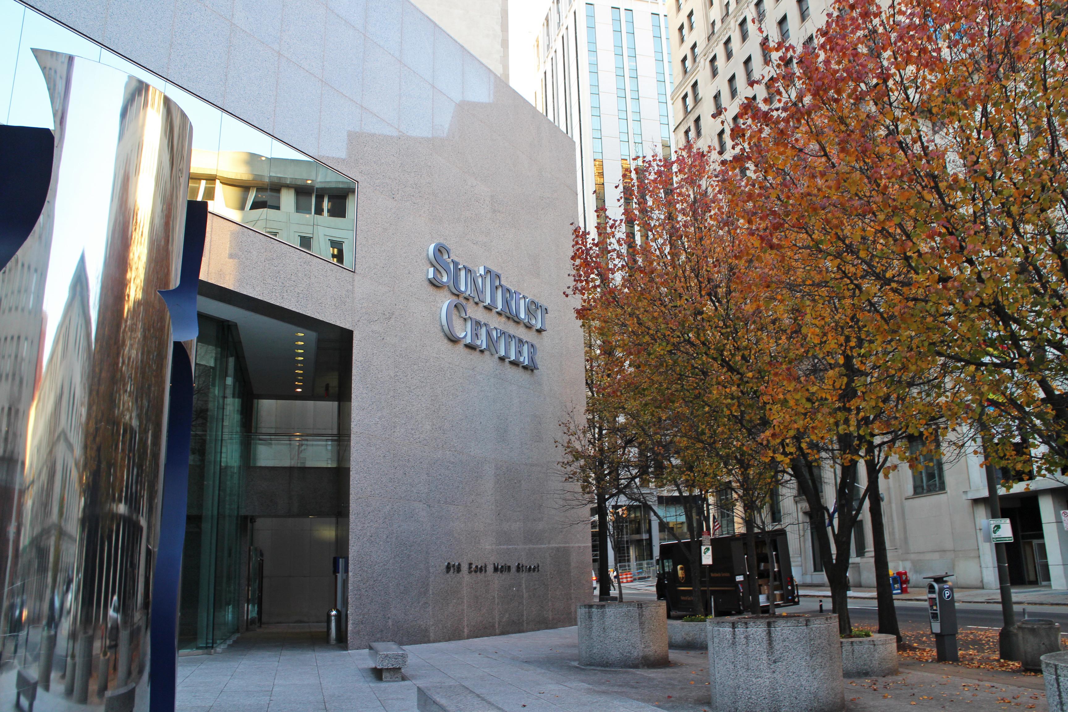 The SunTrust Center on East Main Street.
