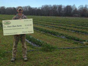 Deer Run Farm owner Chris Rudolph receives more than $1,400 from Farm Table.