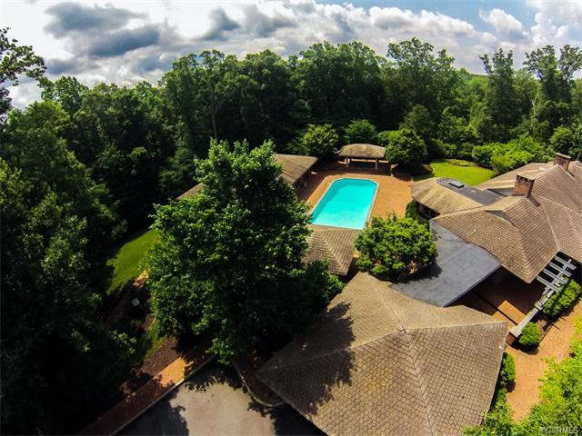 A sprawling home on 15 acres in Goochland County sold a few months after being relisted at a lower price. Photos courtesy of CVRMLS.