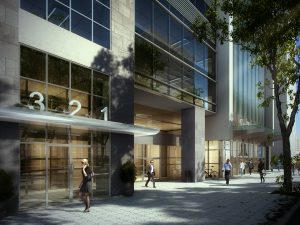 The new tower will have ground-floor retail space and above-ground parking.