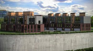 Rendering of the townhomes. (Courtesy Patrick Sullivan)