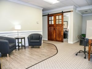 The firm moved into a renovated space on Libbie Avenue. Photo courtesy of Coldwell Banker Avenues.