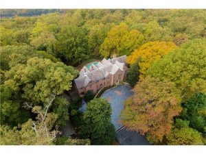 Named 'Garland,' the mansion sits on just over 6 acres above the river.