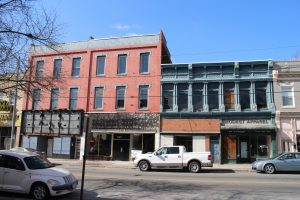 Once completed, the properties will boast four new storefronts between them.