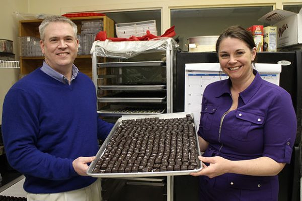 Kelly Walker (right,), Dan Steiner and the fruits of their partnership. Photos by Michael Thompson.