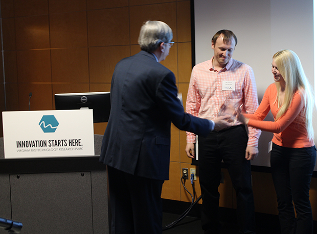 Smart Web founders Alena and Aliaks Tarasevich won last year's competition. (Michael Thompson)