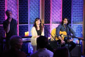 Chafin introduces folk duo The Tide Rose, made up of Whitney Cavin and Keilan Creech.