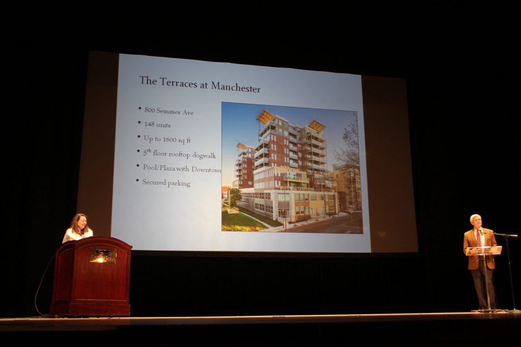 Robin Miller gives an update of his Terraces at Manchester project. Photos by Katie Demeria.