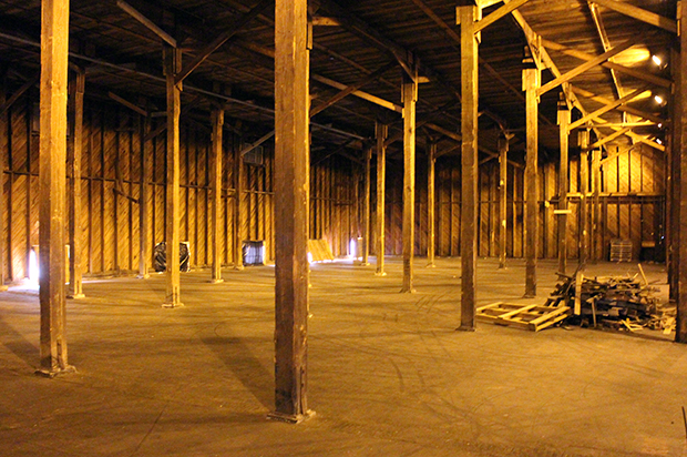 The interior of one of Clopton Siteworks many warehouses. Photos by Katie Demeria.