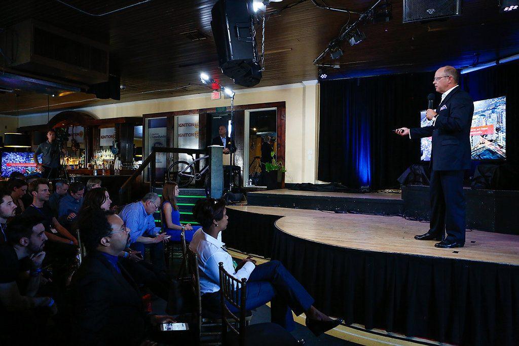 Steve Sadler presented Allegiancy's Regulation A+ plans at the South by Southwest Festival on Monday. Photo courtesy Allegiancy.