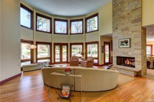 8 Berkshire Drive features turret-style windows.