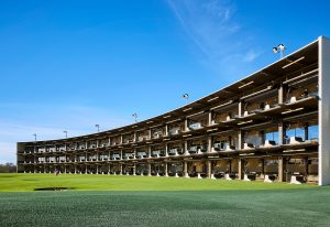 Drive Shack's model is similar to Topgolf's, with a three-story driving range. (Courtesy Topgolf)