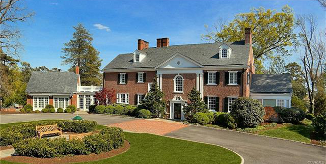 """The hilltop home called """"Summit"""" at 6500 Westham Station Road. Photos courtesy CVRMLS."""