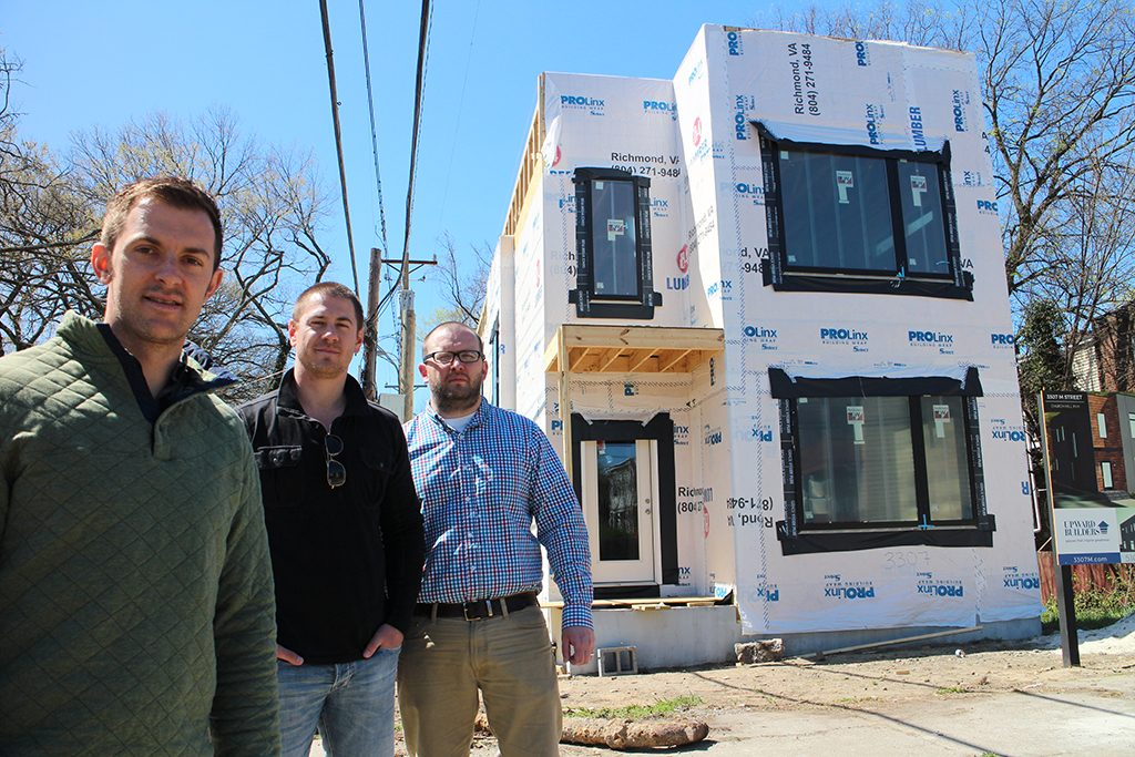 (from left) Sullivan, Kennedy and in front of their M Street project.