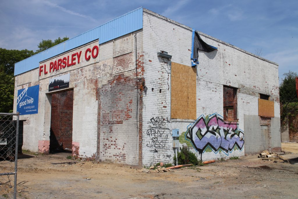 Parts of the existing structure will be preserved in the redevelopment. Photos by Michael Thompson.