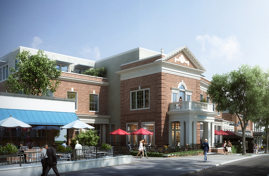 A rendering of the changes proposed for the Westhampton Theater.